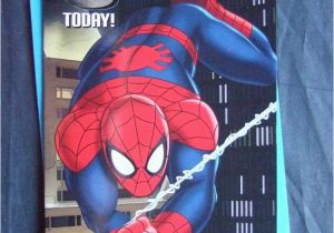 Spiderman Birthday Card Sayings 6th Age 6 Spiderman Official Birthday Card Ebay