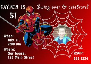 Spiderman Birthday Invitations With Photo Free Personalized