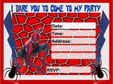 Spiderman Birthday Invites Free Birthday Invitations to Print Drevio Invitations Design