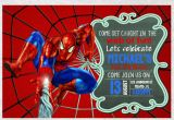 Spiderman Birthday Invites Spiderman Birthday Invitation Invite Chalkboard Chevron