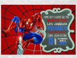 Spiderman Birthday Invites Spiderman Birthday Invitation Invite Chalkboard Chevron