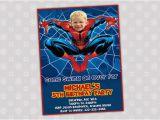Spiderman Birthday Invites Spiderman Birthday Party Invitation Your by