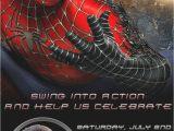 Spiderman Birthday Invites Spiderman Personalized Birthday Party Invitation