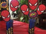 Spiderman Birthday Party Decorating Ideas Spider Man theme Party Table Centerpieces by Christina L