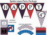 Spiderman Happy Birthday Banner Printable Free Chandeliers Pendant Lights
