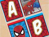 Spiderman Happy Birthday Banner Printable Free Free Printable Spider Man Alphabet Banner Pack