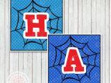 Spiderman Happy Birthday Banner Printable Free Free Printable Spiderman Birthday Decorations Spiderman