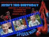 Spiderman Photo Birthday Invitations Custom Spiderman Birthday Invitation Photo Card 5×7 or 4×6