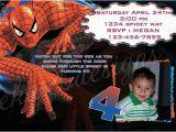 Spiderman Photo Birthday Invitations Customized Printable Spiderman Birthday Invitation