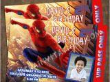 Spiderman Photo Birthday Invitations Spider Man Birthday Invitations Printable or Invite Prints