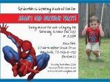 Spiderman Photo Birthday Invitations Spiderman Birthday Invitation by Mypaperinvites On Etsy