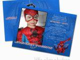 Spiderman Photo Birthday Invitations Spiderman Custom Photo Birthday Invitation by Hullaballew