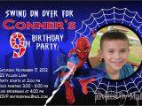 Spiderman Photo Birthday Invitations Spiderman Invitation Template Free Download Everything
