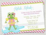 Splash Pad Birthday Invitations Frog Splash Pad Birthday Digital Invitation You Print by