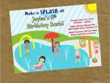 Splash Pad Birthday Invitations New Boy and Girls Splash Pad Birthday Party Invitation