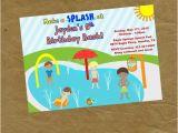Splash Pad Birthday Invitations New Boys Splash Pad Birthday Party Invitation Digital or