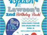 Splash Pad Birthday Invitations Pool Party Splash Pad Birthday Party Invitation