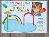 Splash Pad Birthday Invitations Splash Pad Birthday Invitation Pool Party Invitation Water
