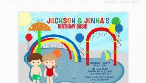 Splash Pad Birthday Invitations Splash Pad Invitation Splash Party Invitation Splish Splash