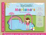 Splash Pad Birthday Invitations Splash Pad Invitation Water Park Birthday Party Spray Park
