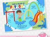 Splash Pad Birthday Invitations Splash Pad Park Birthday and Water Parks On Pinterest