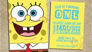 Spongebob 1st Birthday Invitations 73 Best Images About Spongebob On Pinterest Homemade