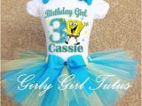 Spongebob Birthday Girl Outfit Spongebob Girls Blue Yellow Birthday Tutu Outfit