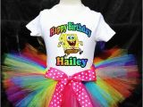 Spongebob Birthday Girl Outfit Spongebob Squarepants Tutu Birthday Outfit by
