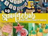 Spongebob Birthday Party Decorations 19 Spongebob Squarepants Birthday Party Ideas Spaceships
