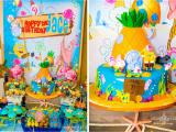 Spongebob Squarepants Birthday Decorations Kara 39 S Party Ideas Spongebob Squarepants Under the Sea 2nd