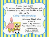 Spongebob Squarepants Birthday Invitations 40th Birthday Ideas Birthday Invitation Template Spongebob