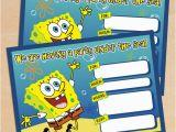 Spongebob Squarepants Birthday Invitations Free Printable Spongebob Squarepants Birthday Invitation