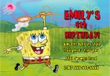 Spongebob Squarepants Birthday Invitations Personalized Spongebob Squarepants Birthday Invitation