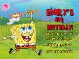 Spongebob Squarepants Birthday Invitations Personalized Spongebob Squarepants Birthday Invitation