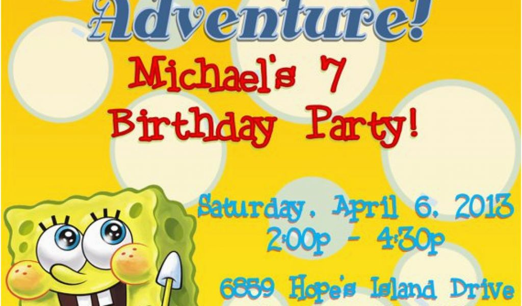 Download By SizeHandphone Tablet Desktop Original Size Back To Spongebob Squarepants Birthday Invitations