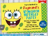 Spongebob Squarepants Birthday Invitations Spongebob Squarepants Birthday Invitation Template by