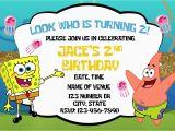 Spongebob Squarepants Birthday Invitations Spongebob Squarepants Birthday Invitations Best Party Ideas