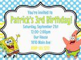 Spongebob Squarepants Birthday Invitations Spongebob Squarepants Birthday Party Invitation Printable 4×6