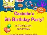 Spongebob Squarepants Birthday Invitations Spongebob Squarepants Invitations Cobypic Com