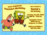 Spongebob Squarepants Birthday Invitations Spongebob Squarepants Invitations General Prints