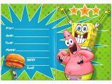 Spongebob Squarepants Printable Birthday Invitations Free Free Printable Spongebob Birthday Invitations Bagvania