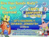 Spongebob Squarepants Printable Birthday Invitations Free Items Similar to Spongebob Invitation Printable Party