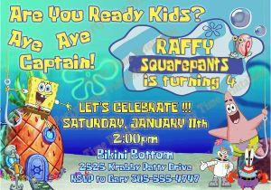 Spongebob Squarepants Printable Birthday Invitations Free Items Similar To Invitation Party