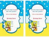 Spongebob Squarepants Printable Birthday Invitations Free Spongebob Birthday Invitations Birthday Printable