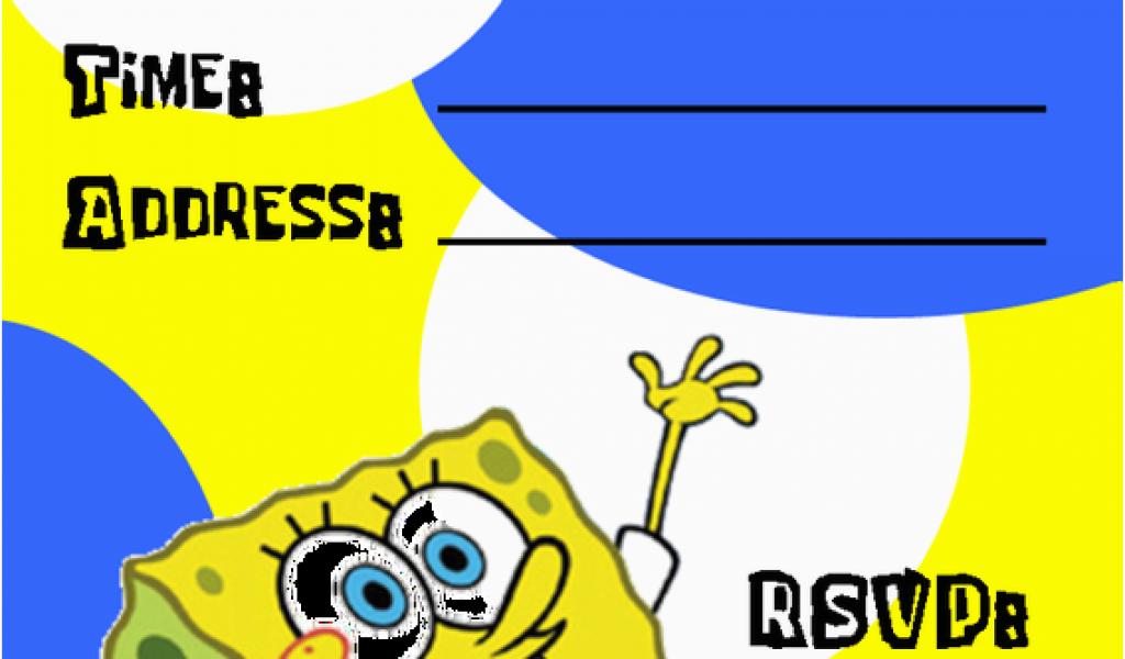 Download By SizeHandphone Tablet Desktop Original Size Back To Spongebob Squarepants Printable Birthday Invitations Free