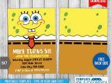 Spongebob Squarepants Printable Birthday Invitations Free Spongebob Squarepants Birthday Invitation 1 by