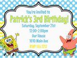 Spongebob Squarepants Printable Birthday Invitations Free Spongebob Squarepants Birthday Party Invitation Printable 4×6