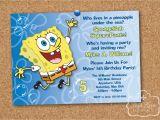 Spongebob Squarepants Printable Birthday Invitations Free Spongebob Squarepants Birthday Party Printable Invitation