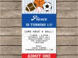 Sport Birthday Invitations All Star Sports Ticket Invitations Sports Invitations