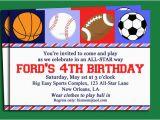 Sport Birthday Invitations Blank Free Printable Birthday Invitations for Boys Free